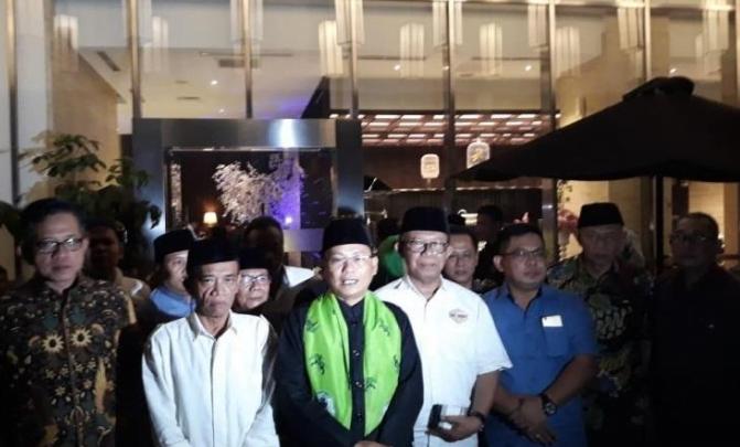 Pertemuan sejumlah tokoh Majelis Adat Masyarakat Betawi di Hotel Aston Priority, Jakarta Selatan. Foto: Antara