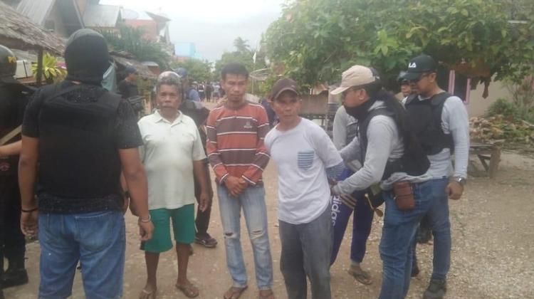 Penangkapan terduga pelaku bentrok antar desa di Buton. (Dok. Istimewa)