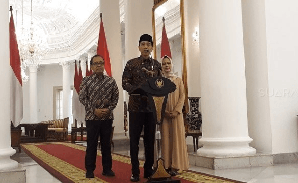 Presiden Jokowi  menyampaikan rasa duka cita atas wafatnya istri Presiden RI ke 6 RI Susilo Bambang Yudhoyono, Kristiani Herrawati atau Ani Yudhoyono.