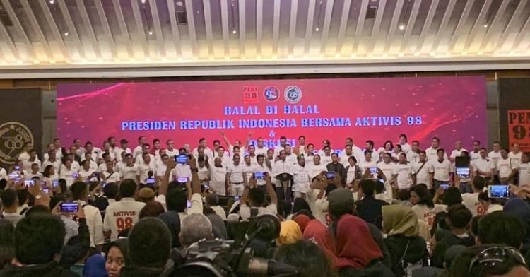 Presiden Jokowi bertemu aktivis '98.
