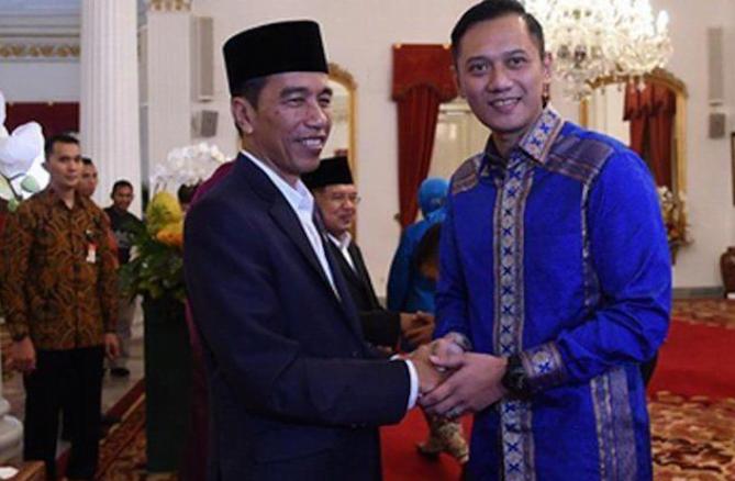 AHY saat bertemu dengan Presiden Jokowi.