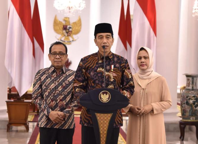 Presiden Jokowi dalam pernyataan resmi turut berduka cita atas meninggalnya Ani Yudhoyono.(Setkab)