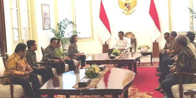 Jokowi Bertemu Pansel Calon Pimpinan KPK di Istana Merdeka.