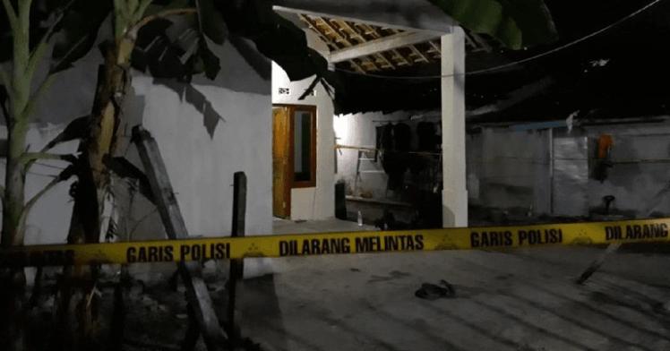 Rumah RA, pelaku peledakan di Pospol Kartasura, Sukoharjo.
