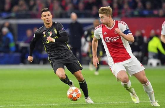 Cristiano Ronaldo dan De Ligt.