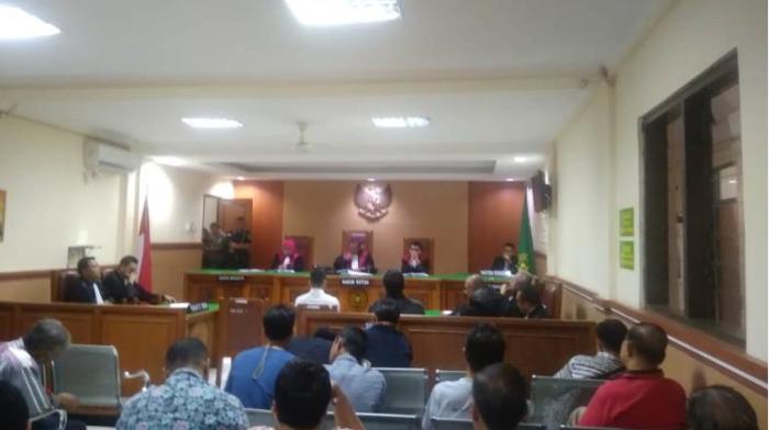 Sidang vonis pembunuhan satu keluarga di Pengadilan Negeri Bekasi, Rabu 31 Juli 2019.