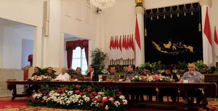 Presien Joko Widodo (Jokowi) mengumumkan ibu kota baru.