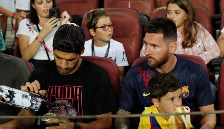 Lionel Messi comeback usai jeda internasional. (Albert Gea/REUTERS)