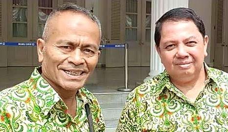 Ketua Umum PWI Pusat Atal S Depari & Sekretaris Jenderal PWI Pusat Mirza Zulhadi.