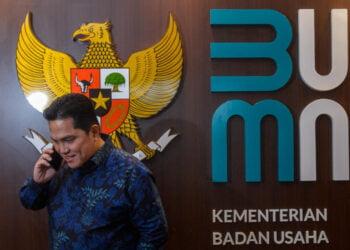 Menteri Badan Usaha Milik Negara (BUMN) Erick Thohir di Kantor kementerian BUMN, Jakarta, 16 Juli 2020. Tempo/Tony Hartawan